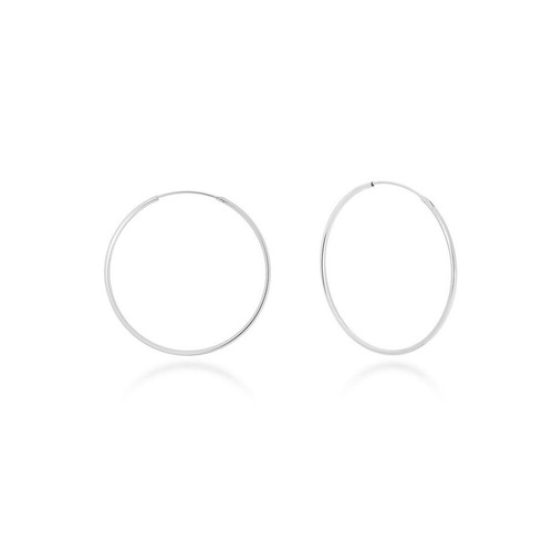 [925silver]20mm Basic Hoop Silver Earrings